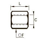 0155 Соединитель для труб равного сечения, внутренняя резьба BSPP