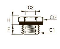 0168 Понижающий редуктор, наружная/внутренняя резьба BSPP и метрическая