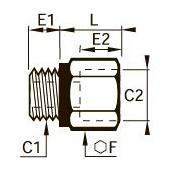 0169 Повышающий редуктор, внутренняя/наружная резьба BSPP