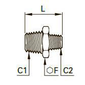0121 Прямой переходник для труб равного/разного сечения, наружная резьба BSPT