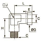 0921 Компрессионное колено для труб равного сечения, наружная/внутренняя метрическая резьба