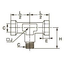 0923 Компрессионный тройник для труб равного сечения, внутренняя/наружная метрическая резьба