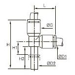 3183 Тройник вставной проходной и переходный с боковым отводом