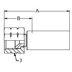1068X / 6068X / 106NX – Внутренний вертлюжного соединения по стандарту JIC