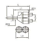 3142 Вставной одинарный Y-образный фитинг, проходной и переходный