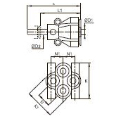 3143 Вставной многоотводный Y-образный фитинг