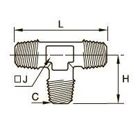0927 Тройник для труб равного сечения, наружная резьба BSPT