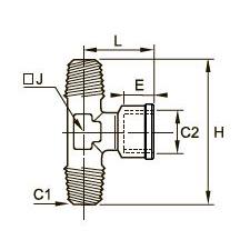 0928 Компрессионный тройник для труб равного сечения, наружная резьба BSPT/внутренняя BSPP