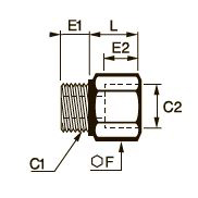 0906 Повышающий редуктор, наружная/внутренняя резьба BSPP и метрическая