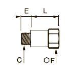 0907 Удлиненный переходник для труб равного сечения, наружная/внутренняя резьба BSPP