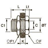 0920 Проходной соединитель, внутренняя резьба BSPP и метрическая