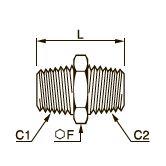 0900 Переходник для труб равного/разного сечения, наружная резьба BSPT