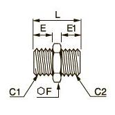 0901 Переходник для труб равного/разного сечения, наружная резьба BSPР и метрическая