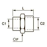0902 Переходник для труб равного/разного сечения, внутренняя резьба BSPР и метрическая
