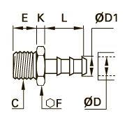 0191 Концевой переходник для резиновых шлангов, наружная резьба BSPР