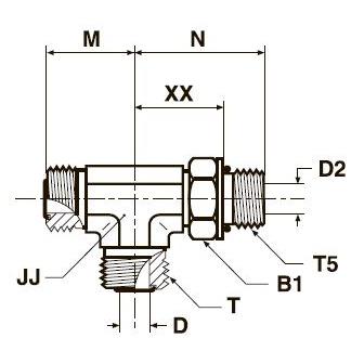 R5OMLO Проходной тройник ввертной регулируемый с наружной резьбой. Сталь