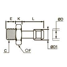 0931 Концевой переходник для резиновых шлангов, наружная резьба BSPР