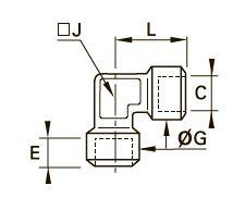 1843 Колено для труб равного сечения, внутренняя резьба BSPP