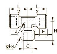 1845 Тройник для труб равного сечения, внутренняя резьба BSPP
