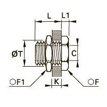 1871 Проходной патрубок для труб равного сечения, внутренняя резьба NPT