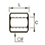 1855 Соединитель для труб равного сечения, внутренняя резьба BSPP