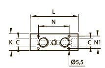 0135 Коллекторный блок, внутренняя резьба BSPP