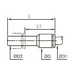 3166 Вставной переходник на меньший диаметр