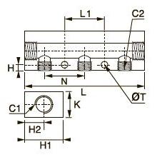 3311 Коллектор, внутренняя резьба BSPP и метрическая