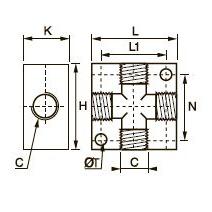 3312 Cross Коллектор, внутренняя резьба BSPP и метрическая