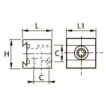 3302 Одинарный коллектор, внутренняя резьба BSPP
