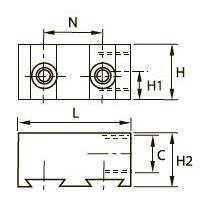 3302 Двойной коллектор, внутренняя резьба BSPP