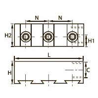 3302 Тройной коллектор, внутренняя резьба BSPP