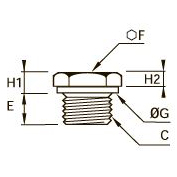 0200 Заглушка с шестигранной головкой, резьба BSPP и метрическая