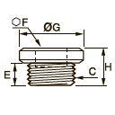 0919 Внутренняя заглушка с шестигранной головкой, наружная резьба BSPP и метрическая