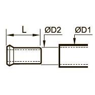 0127 Латунная защитная втулка для полимерных труб