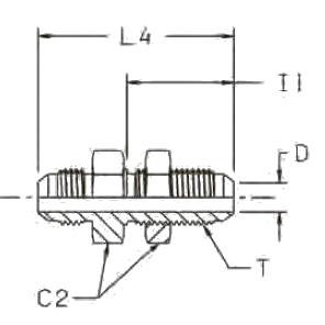 WMTX Переборочный фитинг. Нерж. сталь