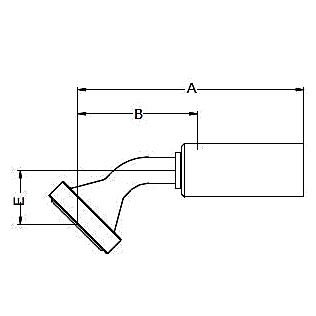 16F8X / 16FNX – Фланец стандарта SAE, код 62 Угловой фитинг 45° ISO 12151-3