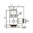 3124 «Банджо» с одним выходом, наружная/внутренняя резьба BSPP и метрическая