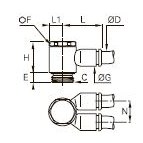 3149 «Банджо» с двумя параллельными выходами, наружная резьба BSPP и метрическая