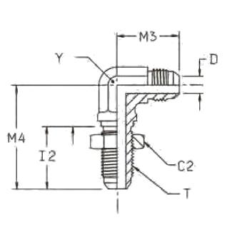 WEMTX Переборочный фитинг угловой. Сталь