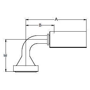 16N8X / 16NNX – Фланец стандарта SAE, код 62 Угловой фитинг 90° 16A8X / 16ANX – 16N8X / 16NNX ISO 12151-3