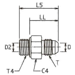F42EDMX Ввертной фитинг. Сталь