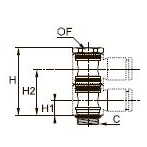 3528 Двойной болт «банджо» для двухкорпусных модулей, наружная резьба BSPP и метрическая