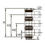 3529 Тройной болт «банджо» для трехкорпусных модулей, наружная резьба BSPP