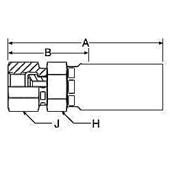 10655 – Внутренний вертлюжного соединения по стандарту JIC