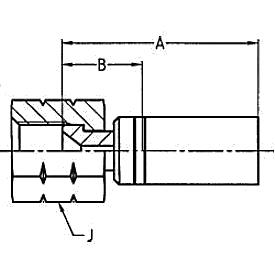 1068X / 1063X / 106LX – Внутренний вертлюжного соединения по стандарту JIC