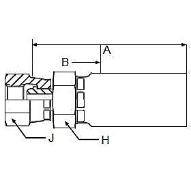 19255 – Внутренний вертлюжного соединения по стандарту BSP (конус 60°)