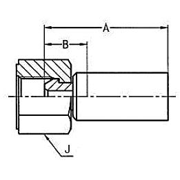 1928X / 1923X – Внутренний вертлюжного соединения по стандарту BSP (конус 60°)