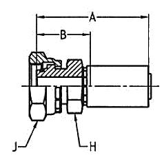 1C955 – Метрический внутренний вертлюжного соединения Тяжелая серия