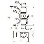 3379 Соединитель двух трубок для монтажа на DIN-рейку